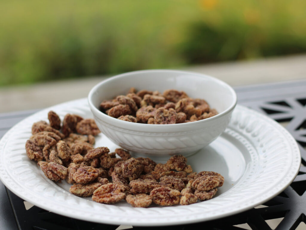 Maple Glazed Pecans